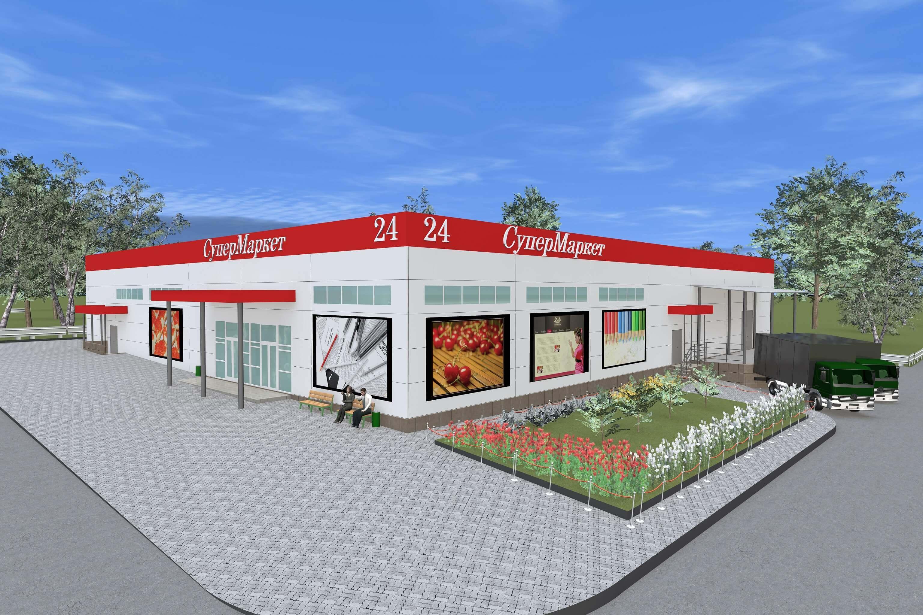 Строительство торгового центра по адресу: МО, Чеховский район, д. Манушкино